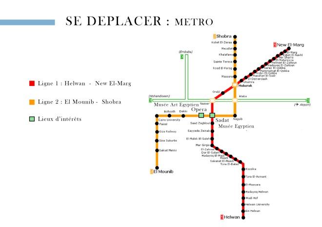 carte metro cairo