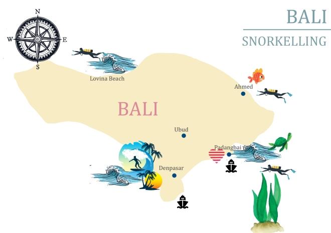 bali carte snorkelling